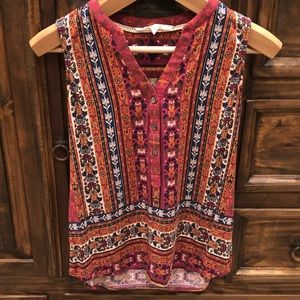 Sleeveless Magnolia Grace woven blouse